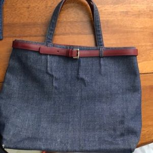Authentic Burberry denim purse